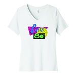 Cafe 80's Women's V-Neck T-Shirt