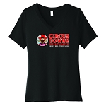 Circus Towne Pizza Theater Women's V-Neck T-Shirt