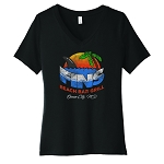 Fins Beach Bar Women's V-Neck T-Shirt