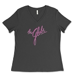The Globe Logo Women's V-Neck T-Shirt