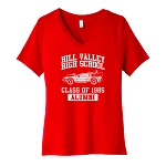 Hill Valley High School Women's V-Neck T-Shirt