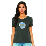 Monk's Cafe Women's V-Neck T-Shirt