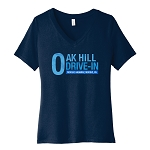 Oak Hill Drive-In Women's V-Neck T-Shirt
