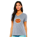 Pretzel Day Women's V-Neck T-Shirt