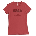 Sound Waves Records & Tapes Women's Crew Neck T-Shirt