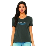 Space Port Arcade Women's V-Neck T-Shirt