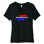 SportsChannel Women's V-Neck T-Shirt