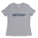 Tom & Jerry's Restaurant Women's V-Neck T-Shirt