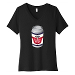 Valley Forge Beer Can Women's V-Neck T-Shirt