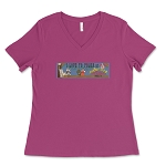 Rocky Glen Polka Women's V-Neck T-Shirt