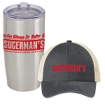 Sugerman's Snapback Trucker Hat & Insulated Tumbler Combo