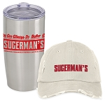 Sugerman's Distressed Cap & Insulated Tumbler Combo