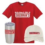 Sugerman's Insulated Tumbler, Distressed Cap & Classic T-Shirt Combo