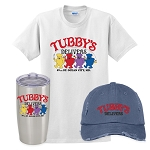 Tubby's Carry Out & Delivery Insulated Tumbler, Distressed Cap & Classic T-Shirt Combo
