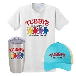 Tubby's Carry Out & Delivery Insulated Tumbler, Snapback Trucker Hat & Classic T-Shirt Combo