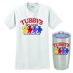 Tubby's Carry Out & Delivery Insulated Tumbler & Classic T-Shirt Combo