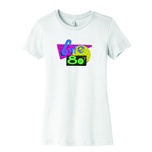 Cafe 80's Women's Crew Neck T-Shirt