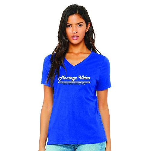 Montage Video Women's V-Neck T-Shirt