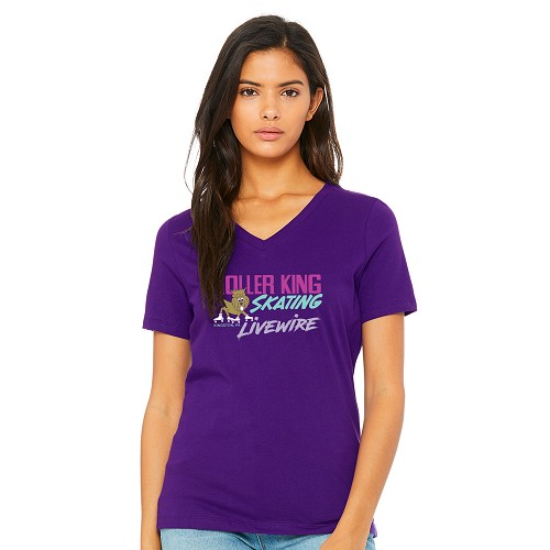 Roller King & Livewire Women's V-Neck T-Shirt