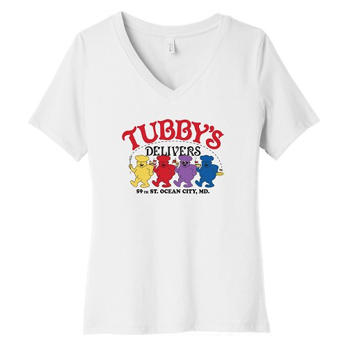 Tubby's Carry Out & Delivery Women's V-Neck T-Shirt